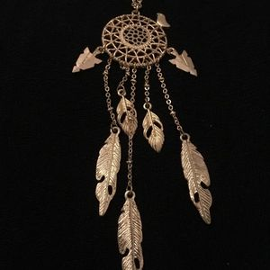 Jewelry - Gold Dream Catcher Necklace